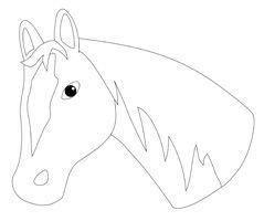 Pferde Pferdekopf Tiere Basteln Pferd