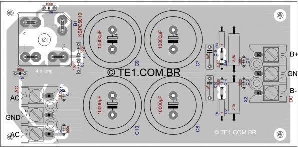 Fonte Simetrica Amplificador Potencia Placa 595x295 Circuito De