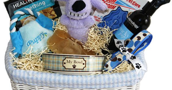 Dog Blanket For Car >> A gorgous gift for anyone with a new Puppy - Beau in Blue Deluxe Gift Basket for Puppies from ...