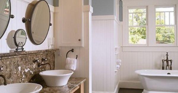 The Cottage Market: Beautiful Bathroom Ideas - I like the sink and