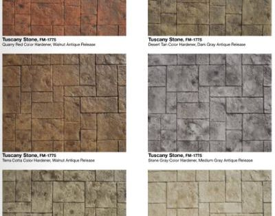 Stamped Concrete Color Combinations Flooring Pinterest