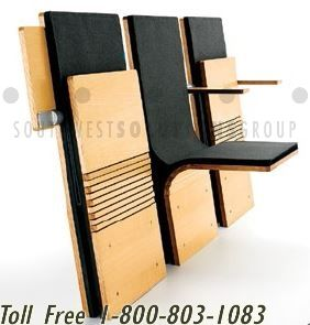 Compact Folding Wall Mounted Chairs For Seating In Public Spaces Auditorium Seating Auditorium Chairs Folding Walls