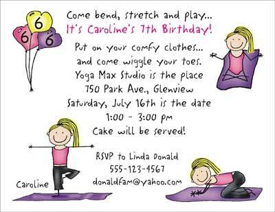 Kids Yoga Yoga Kids Yoga Party Yoga Party Fill In Invitations Invitations