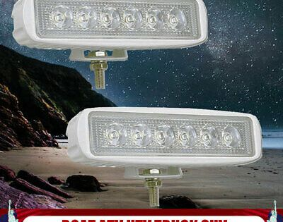 Sponsored Ebay 2x White Spreader Led Deck Marine Waterproof Light Fit Boat Spot Lamps 12v 24v Light Fittings Led Fog Lights Led Light Bars