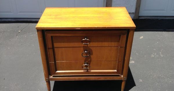 Mid Century Modern Nightstand (not exciting as-is, but in black with ...