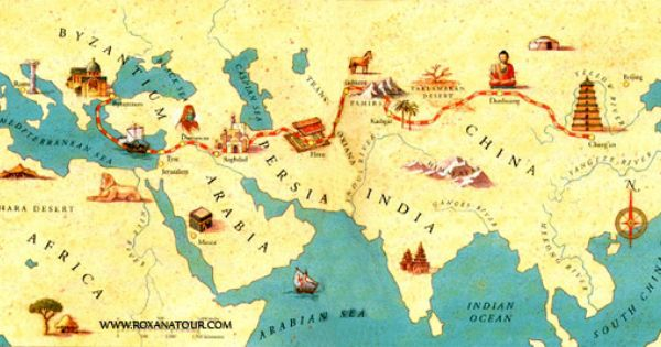 the silk road past and present The silk road was the most important trade route from china to europe in ancient times it started from xi'an and extended west into central asia and europe it started from xi'an and extended west into central asia and europe.