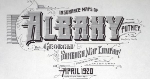 Albany Georgia April 1920 Lettering Blog Typography Lettering