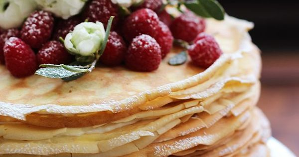Lemon mascarpone crepe cake | Wedding | Pinterest
