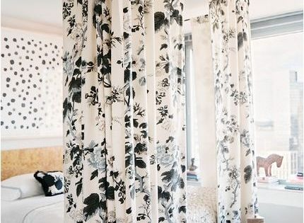 Hang curtain rods to create a makeshift canopy bed or cool way