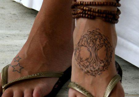 celtic tree of life tattoo on feet ... Seriously I need a