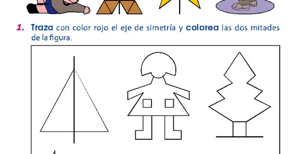 Trazo Del Eje De Simetria Actividades Para Ninos Del Preescolar Jardin Inicial Parvulo En Pdf M Actividades De Simetria Ejercicios De Simetria Simetria