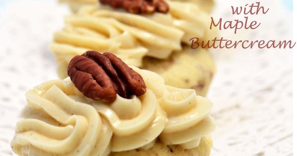 Butter Pecan Mini Cupcakes with Maple Buttercream « suzie sweet tooth