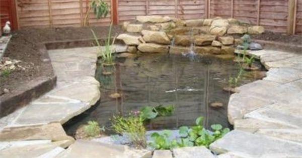 Concrete fish ponds construction cal mini egg lights for Concrete fish pond construction