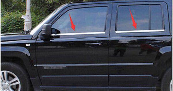 For Jeep Patriot 2011 2012 2013 2014 2015 Stainless Decorative Bottom Window Trim Chrome 4pcs Jeep Patriot Jeep Window Sill Trim