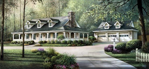 Southern Style House Plan 69020 With 3 Bed 2 Bath 3 Car Garage Victorian House Plans House Plans And More Country House Plans