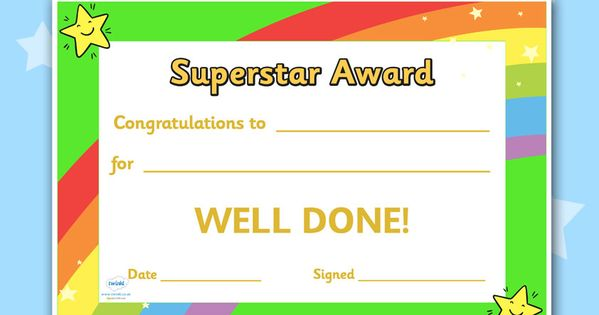 twinkl resources gtgt superstar award certificates