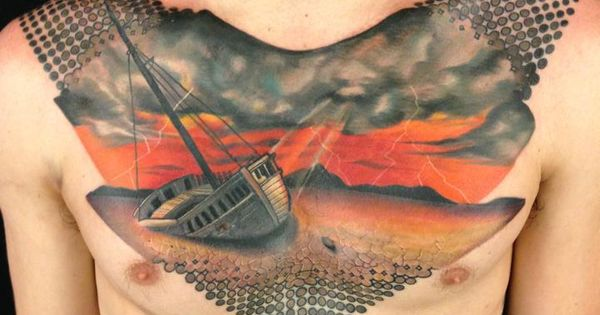 Cool mural maybe on my back instead though looks a for Back mural tattoo designs