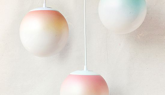 Awesome DIY ombre light from Design Love Fest using Martha Stewart Crafts