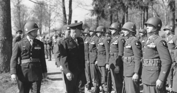 101st Airborne Forward Observer: General Dwight D. Eisenhower Inspecting Troopers Of The