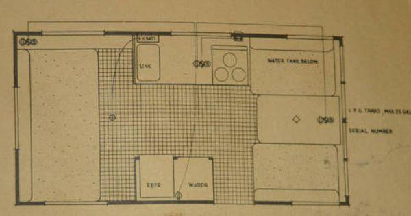 1962 Shasta Airflyte Floor Plan Camper Spunk Pinterest