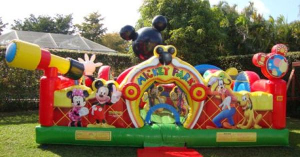 Toddlers Bounce House Rental Kids Bounce House Rental In Miami Brod Mickey Mouse Clubhouse Birthday Mickey Mouse Birthday Party Mickey Mouse Clubhouse Party