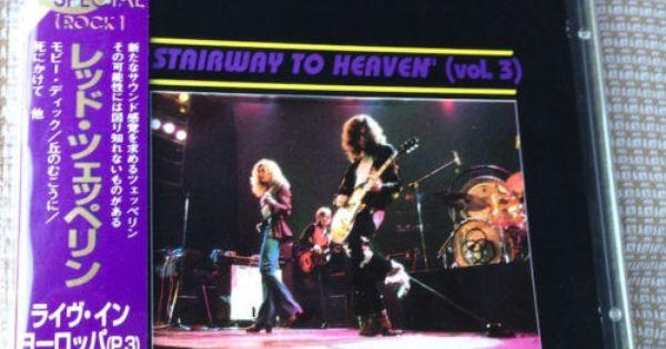 Led Zeppelin Stairway To Heaven Vol 3 Cd Live Japan Obi