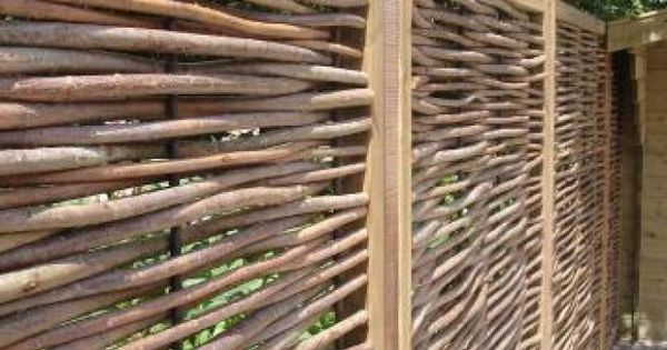 Zelf een nieuw ontwerp maken voor de oude tuin natuurlijke tuinafscheiding mooie - Tuin exterieur ontwerp ...
