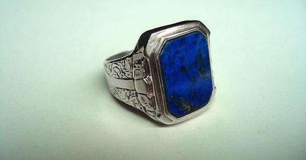 Ring 925 Silber mit Lapis Lazuli