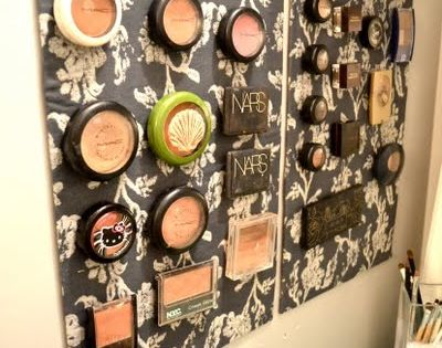 Magnetize it. | 14 Incredibly Simple Ways To Organize Your Makeup Using