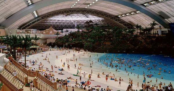 Miyazaki Ocean Dome Largest Indoor Water Park In The World Japan Indoor Beach Beaches In The World Indoor Waterpark