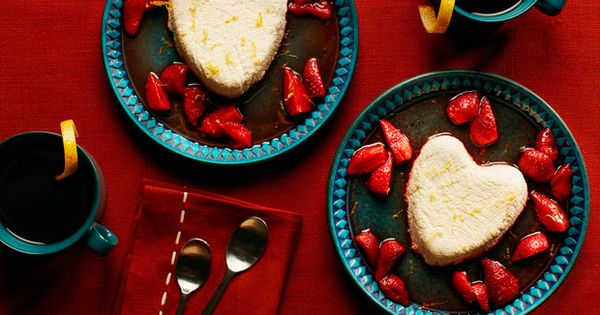 Coeur à la Crème With Roasted Strawberry Sauce | Recipe | Strawberry ...