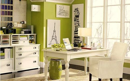Love The Light And Color Together Happy Place To Work Home Office Design Office Interior Design Home Office Decor