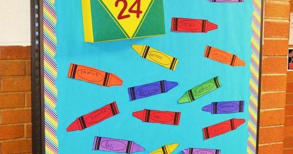 Classroom Decor Ideas For Preschool ~ Back to school bulletin board idea this link includes a