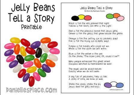 Jelly Beans tell a Story free printable