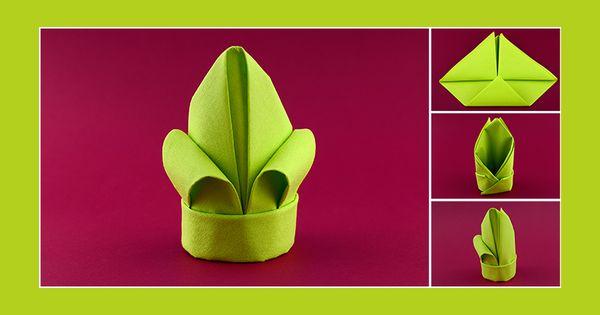 servietten falten anleitung lilie gr n servietten pinterest servietten falten anleitung. Black Bedroom Furniture Sets. Home Design Ideas