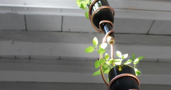 DIY Wine Bottle Herb Garden -need Mark to weld me a piece