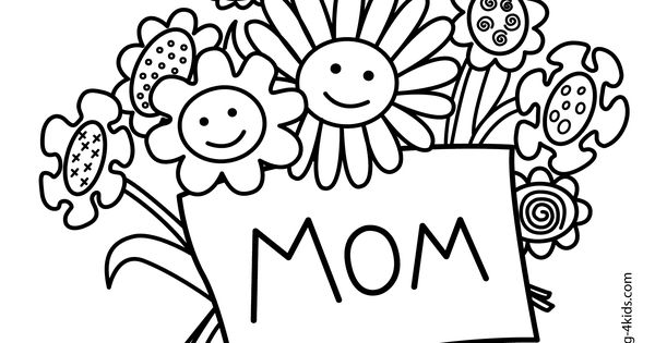 mother u0026 39 s day coloring pages for kids  printable free