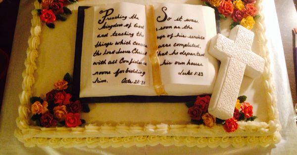 Pastor retirement cake   My Cakes   Pinterest   Retirement, Pastor and ...