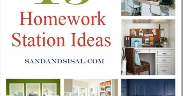 Homework Station Ideas, via @Kim Wilson {Sand & Sisal} Now that I