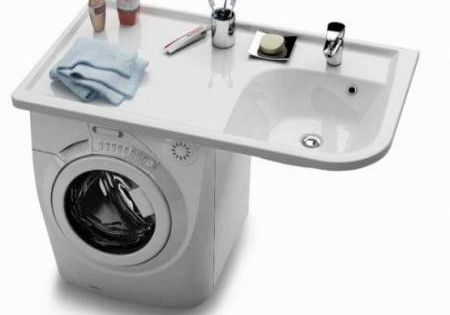 Plan vasque gain de place sur machine laver saint lucie pinterest laundry laundry room - Machine a laver gain de place ...