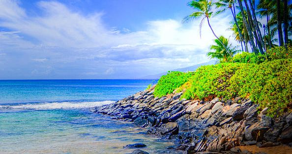 Beautiful beach on Maui.