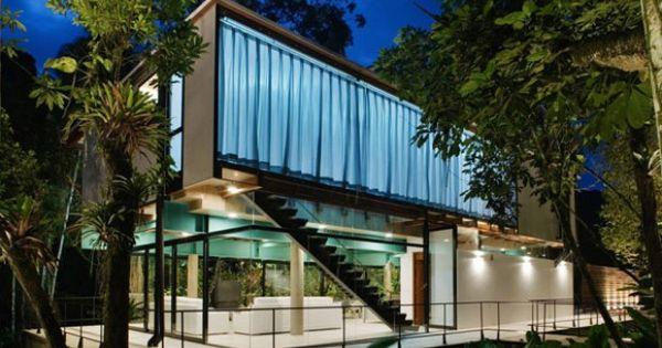 Extreme climate homes iporanga jungle tree house s o for Jungle house music