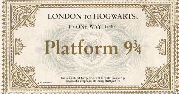 Hogwarts Express Ticket.jpg | Filofaxing, Lesezeichen und ...