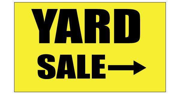 printable yard sale sign yellow color free printable