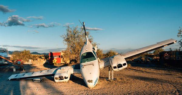 Random Aircraft Slab City California Slab City Salton Sea City