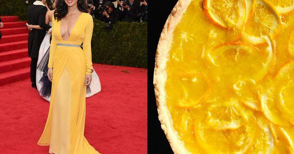 Olivia Munn and Lemon-Honey Tart with Salted Shortbread Crust   Pretty ...