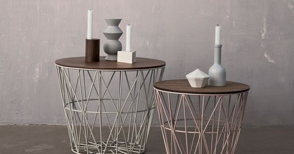 niedriger runder couchtisch aus eisen wire basket by ferm living casita pinterest. Black Bedroom Furniture Sets. Home Design Ideas