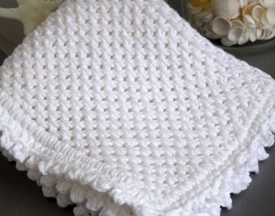 Daisy Stitch Washcloth Knitting Pattern FaveCrafts.com Knit Pinterest ...