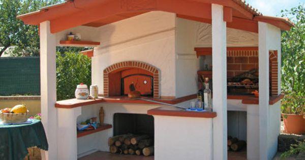 Forni in muratura per esterni cerca con google forni - Cucina in muratura per esterni con barbecue ...