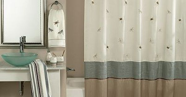 Home Classics Shalimar Dragonfly Shower Curtain Shower Curtain